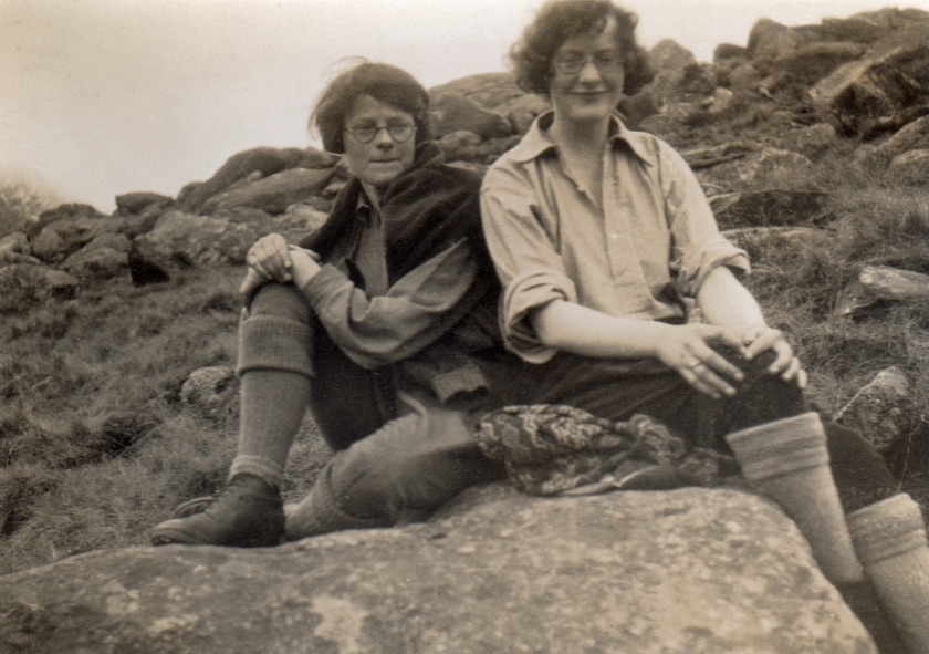 Berta Gough and Ena Fairclough, Glyders, c1930, above YHA Idwal Cottage