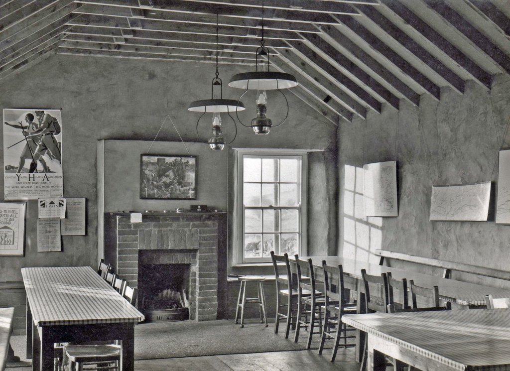 The common room at the first YHA Once Brewed.
